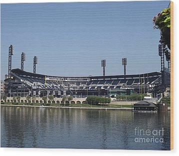 Pnc Park Wood Print by Chad Thompson