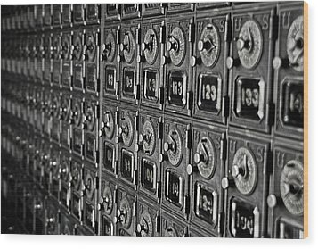 Wood Print featuring the photograph Po Box by Randall  Cogle