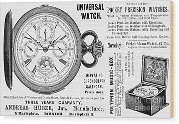 Pocket Watch, 1897 Wood Print by Granger