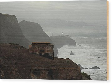 Wood Print featuring the photograph Point Bonita Lighthouse And Battery by Scott Rackers