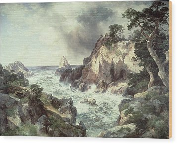 Point Lobos At Monterey In California Wood Print by Thomas Moran