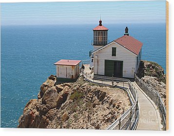 Point Reyes Lighthouse In California 7d16001 Wood Print by Wingsdomain Art and Photography