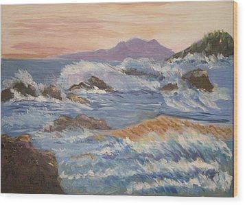 Point Reyes Storm Wood Print by Al Steinberg