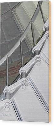 Point Sur Lighthouse Stairway Wood Print by Jim Pavelle