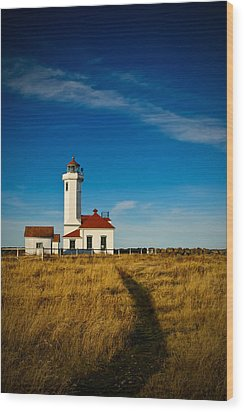 Point Wilson Lighthouse Wood Print by Dan Mihai