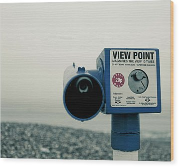 Pointlessness Is Pointing Telescope Wood Print by Andy Teo aka Photocillin