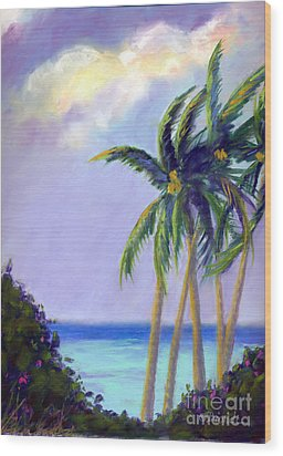 Poipu Palms Wood Print