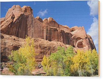 Poison Spider Mesa In The Fall Wood Print by Gary Whitton