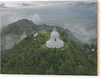 Pokhara, Nepal, Asia- World Peace Wood Print by Keenpress