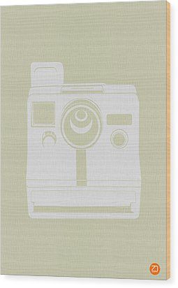 Polaroid Camera 3 Wood Print by Naxart Studio