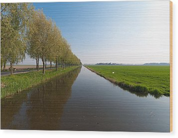Wood Print featuring the photograph Polder Ditch by Hans Engbers