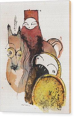 Polemos 1 Wood Print by Mark M  Mellon