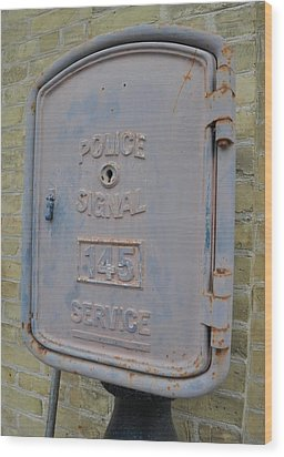 Police Signal Box Wood Print by Daryl Macintyre