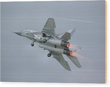 Polish Air Force Mig-29 Wood Print