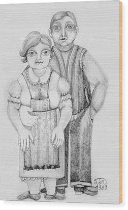 Polish Couple Wood Print by Rachel Hershkovitz