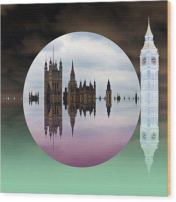 Political Bubble Wood Print by Sharon Lisa Clarke