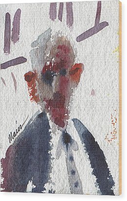 Politician Wood Print by Donald Maier