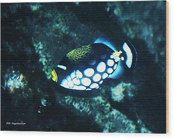Polka Dot Fish Wood Print by DiDi Higginbotham