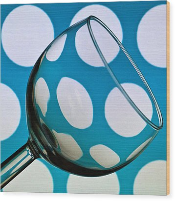 Wood Print featuring the photograph Polka Dot Glass by Steve Purnell