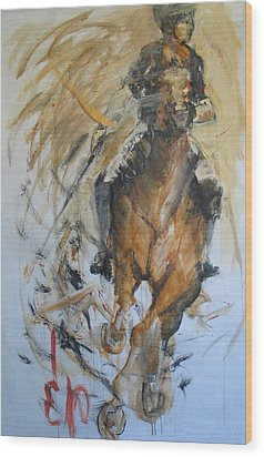 Polo 2 Wood Print by Elizabeth Parashis