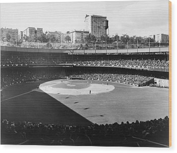 Polo Grounds, During The 1937 World Wood Print by Everett