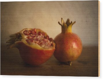 Pomegranate Wood Print by Alexandre Fundone