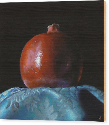 Pomegranate Number 2 Wood Print by Jeffrey Hayes