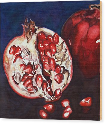 Pomegranate Study Number Two Wood Print