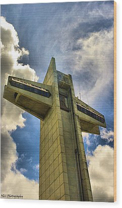 Ponce Cross Wood Print by Nicholas Caputo