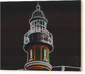 Ponce Inlet Lighthouse Wood Print by Dennis Dugan