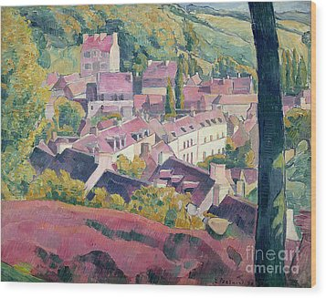 Pont Aven Seen From The Bois D'amour Wood Print by Emile Bernard