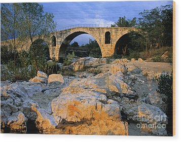 Pont Julien. Luberon. Provence. France. Europe Wood Print by Bernard Jaubert