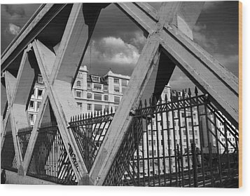Pont Lafayette Paris Wood Print by Andrew Fare