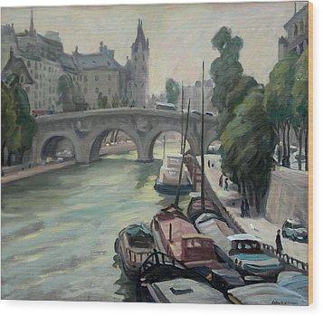 Pont Neuf A Paris Wood Print by Thor Wickstrom