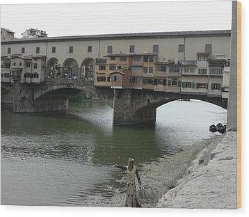 Wood Print featuring the photograph Ponte Vecchio by Laurel Best