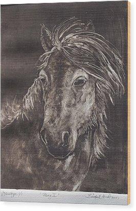 Pony II Wood Print by Barbel Amos