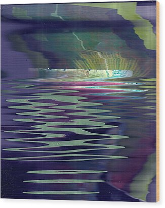 Pool Of Reflections And Memories Wood Print by Anne-Elizabeth Whiteway