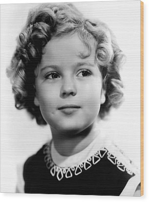 Poor Little Rich Girl, Shirley Temple Wood Print by Everett