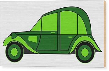 Pope's New Car Wood Print by Asbjorn Lonvig
