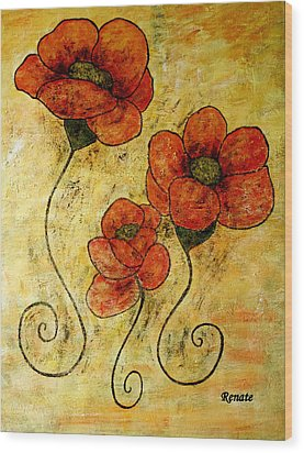 Poppy-art Wood Print