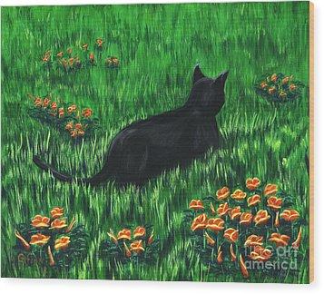 Poppy Cat Wood Print