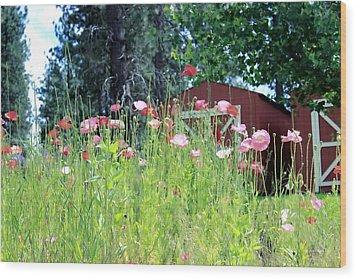 Poppy Field Wood Print by Myrna Migala