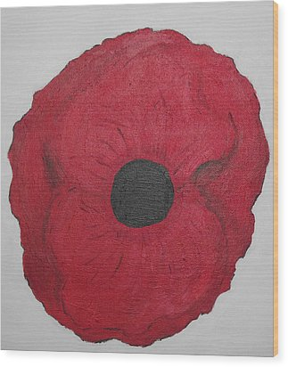 Wood Print featuring the photograph Poppy Of Rememberance by Martin Blakeley