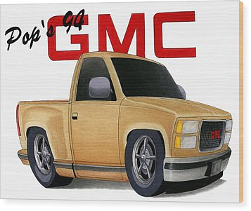 Pop's Gmc Wood Print by Lyle Brown