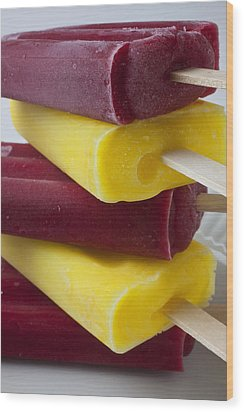 Popsicle Ice Cream Wood Print by Garry Gay