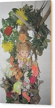 Porcelain Doll Arrangement Wood Print by HollyWood Creation By linda zanini