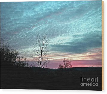 Porcelain Sky Wood Print by Christian Mattison