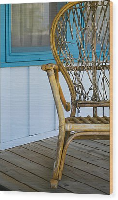 Porch Chair Wood Print