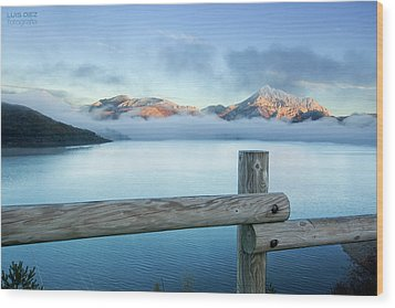 Porma Reservoir Wood Print by Lmdm43