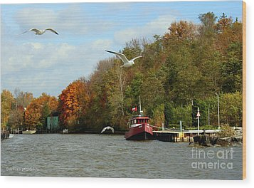 Wood Print featuring the photograph Port Dover Harbour by Barbara McMahon
